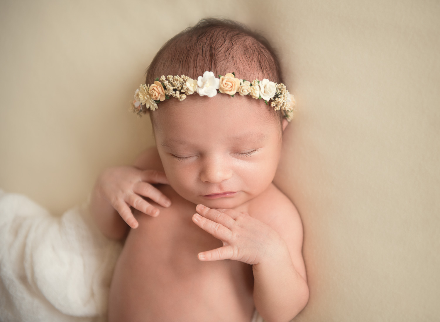 newborn photography baby with halo by auckland baby photographer siobhan kelly photography